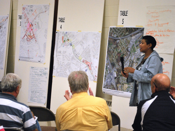 During the course of the 12-month project, community members discussed concerns and brainstormed ideas at community-wide charrette workshops.