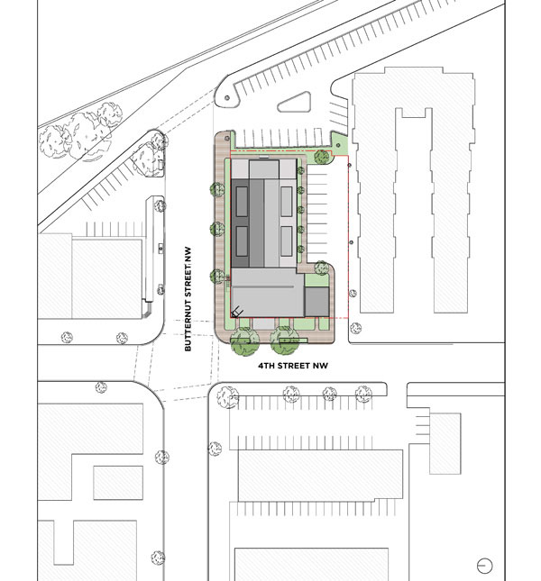 Proposed Site plan of the Takoma Theater