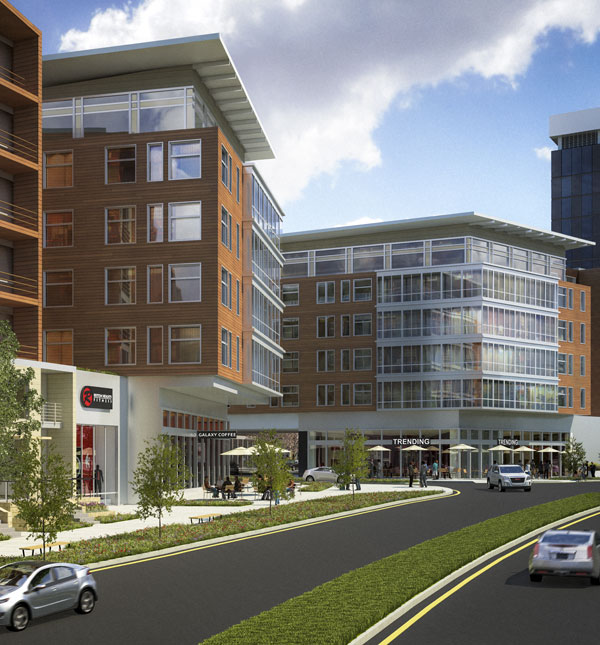 Rendering of the Proposed  Reston Heights complex.
