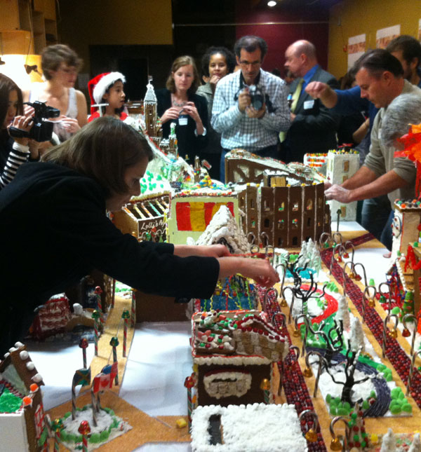 Phoebe Larson placing the CQA curling rink in Gingertown DC.