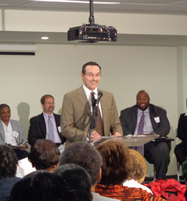 Mayor Vincent Gray at the Ribbon Cutting Ceremony of The House of Lebanon