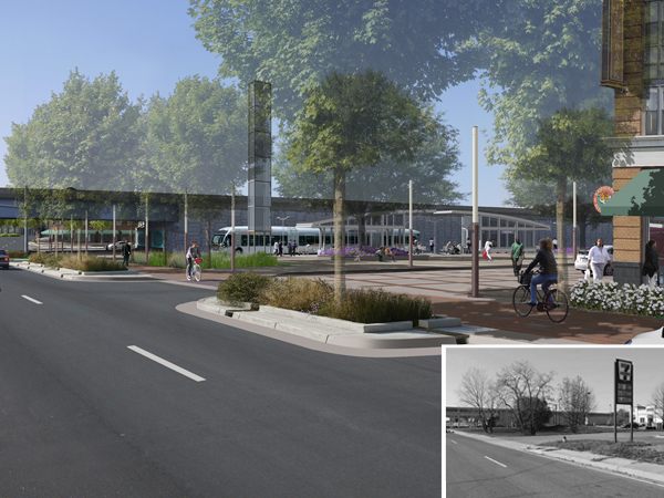One of several proposed station nodes, Coventry Way is envisioned as a new transit 'neighborhood center' with easy accessibility from Joint Base Andrews and the surrounding neighborhoods.